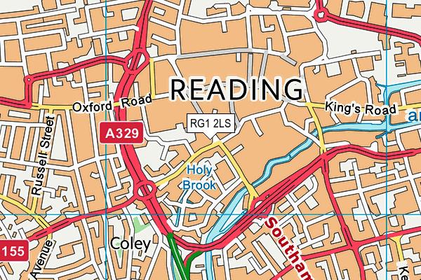 RG1 2LS map - OS VectorMap District (Ordnance Survey)