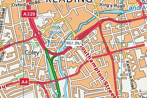 RG1 2NJ map - OS VectorMap District (Ordnance Survey)