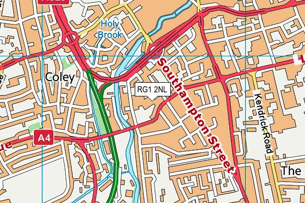 RG1 2NL map - OS VectorMap District (Ordnance Survey)