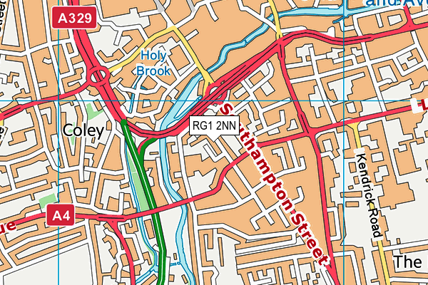RG1 2NN map - OS VectorMap District (Ordnance Survey)