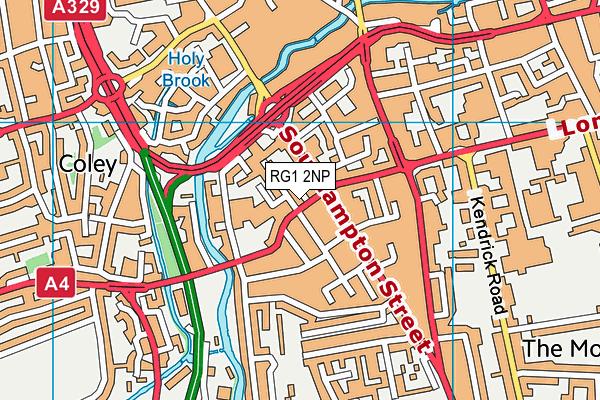 RG1 2NP map - OS VectorMap District (Ordnance Survey)