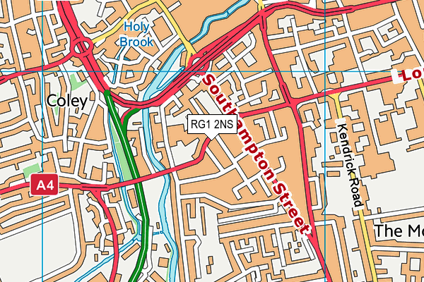 RG1 2NS map - OS VectorMap District (Ordnance Survey)