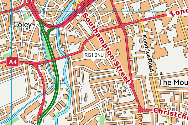 RG1 2NU map - OS VectorMap District (Ordnance Survey)