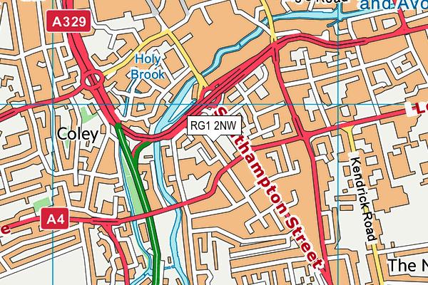 RG1 2NW map - OS VectorMap District (Ordnance Survey)