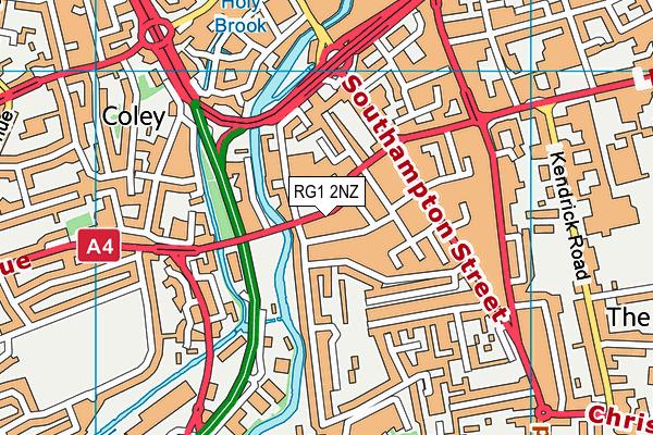 RG1 2NZ map - OS VectorMap District (Ordnance Survey)