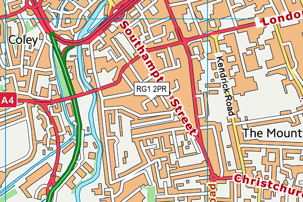 RG1 2PR map - OS VectorMap District (Ordnance Survey)