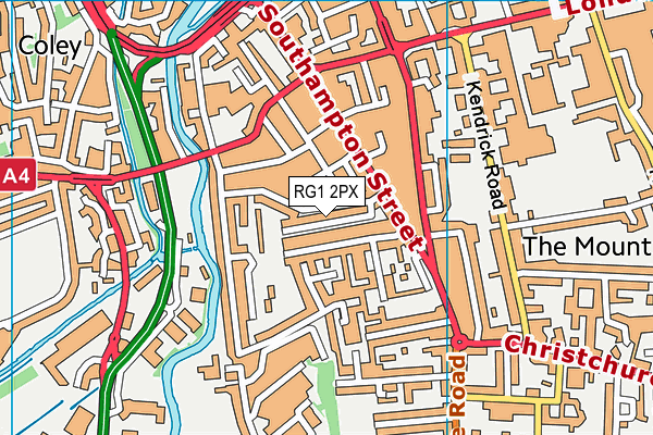 RG1 2PX map - OS VectorMap District (Ordnance Survey)