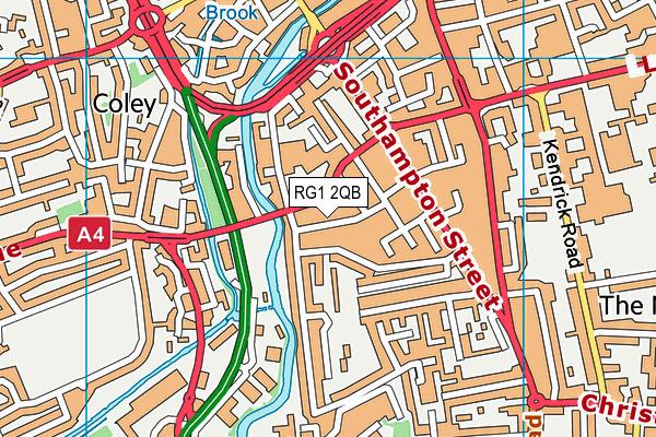 RG1 2QB map - OS VectorMap District (Ordnance Survey)