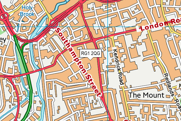 RG1 2QG map - OS VectorMap District (Ordnance Survey)