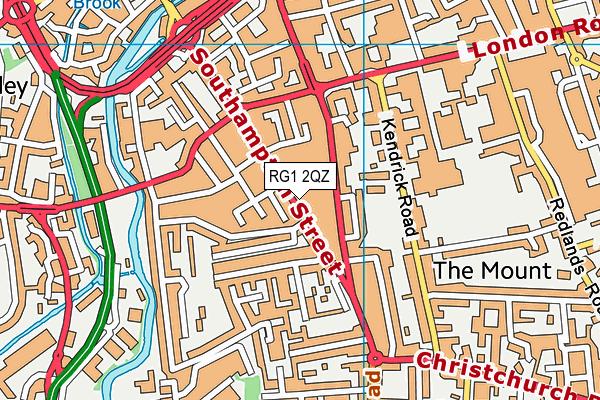 RG1 2QZ map - OS VectorMap District (Ordnance Survey)