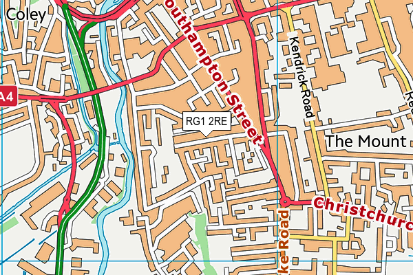 RG1 2RE map - OS VectorMap District (Ordnance Survey)