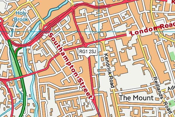 RG1 2SJ map - OS VectorMap District (Ordnance Survey)