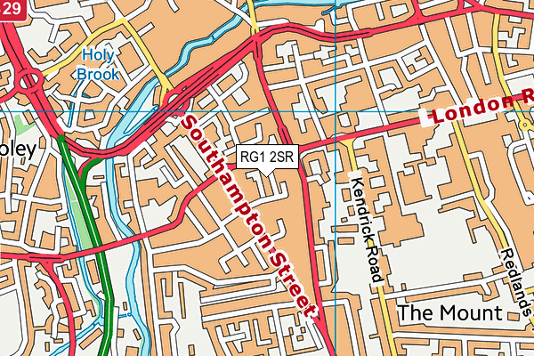 RG1 2SR map - OS VectorMap District (Ordnance Survey)