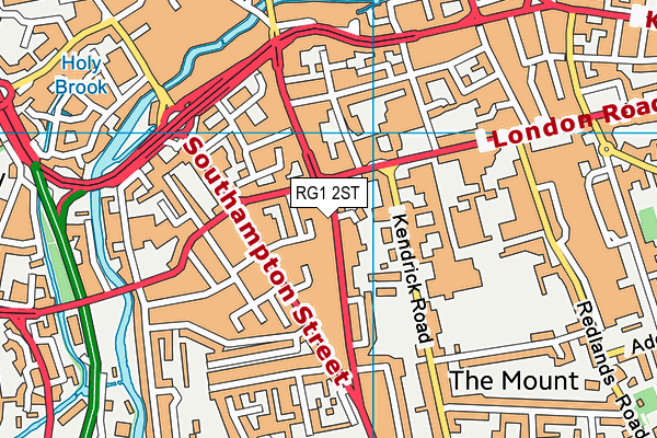 RG1 2ST map - OS VectorMap District (Ordnance Survey)