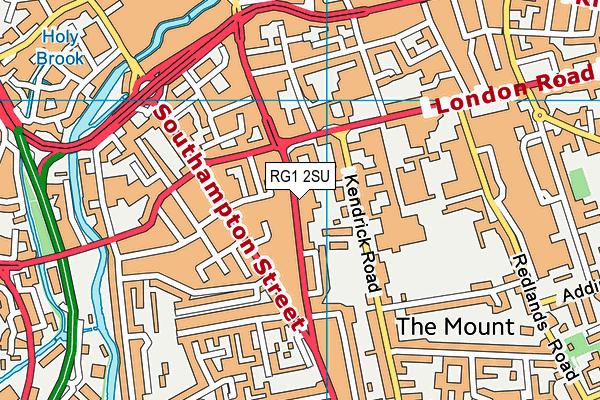RG1 2SU map - OS VectorMap District (Ordnance Survey)
