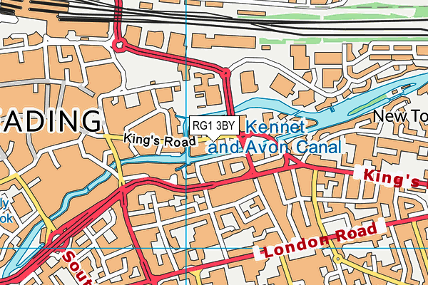 Buzz Gym (Reading) map (RG1 3BY) - OS VectorMap District (Ordnance Survey)