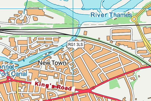 New Town Primary School map (RG1 3LS) - OS VectorMap District (Ordnance Survey)