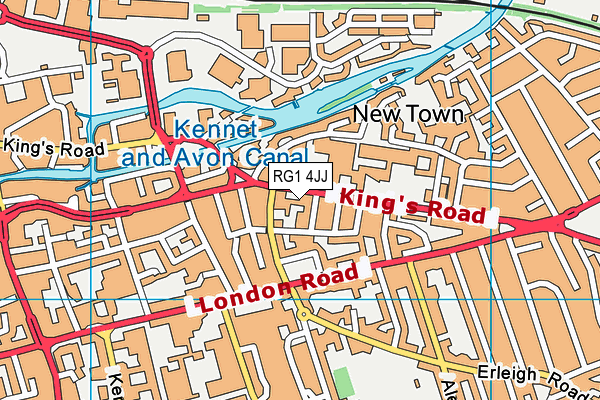 Red Balloon Learner Centre Reading map (RG1 4JJ) - OS VectorMap District (Ordnance Survey)
