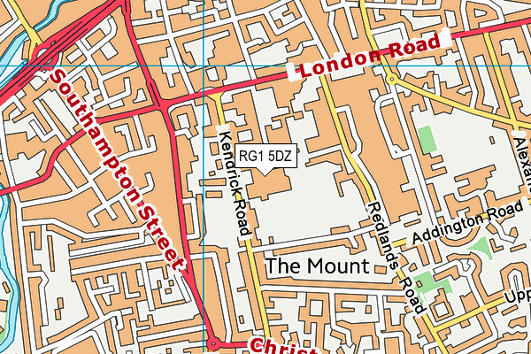 The Abbey School map (RG1 5DZ) - OS VectorMap District (Ordnance Survey)