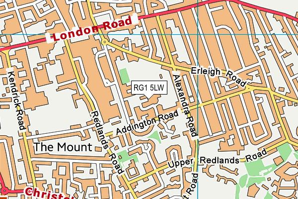 Reading School map (RG1 5LW) - OS VectorMap District (Ordnance Survey)