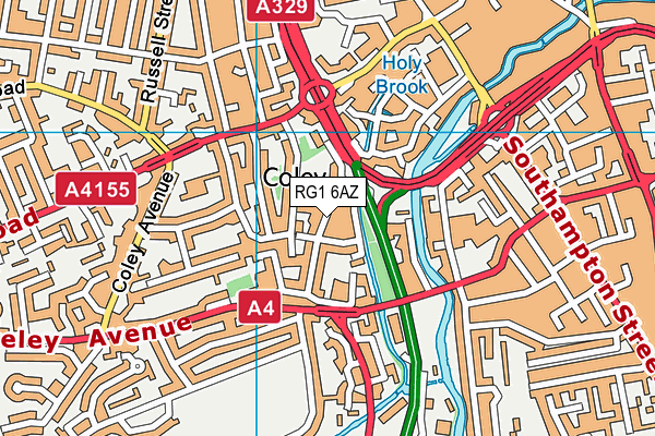 Coley Primary School map (RG1 6AZ) - OS VectorMap District (Ordnance Survey)