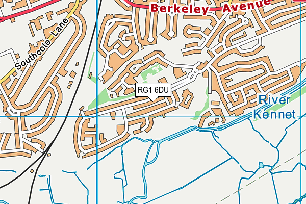St Mary & All Saints Church of England Primary School map (RG1 6DU) - OS VectorMap District (Ordnance Survey)