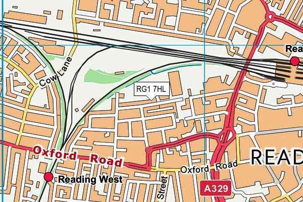Civitas Academy map (RG1 7HL) - OS VectorMap District (Ordnance Survey)