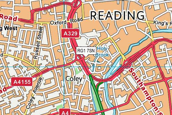 Map of READING CHIROPRACTOR LTD. at district scale