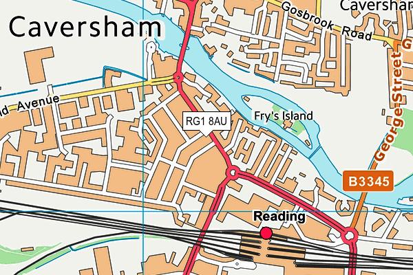 RG1 8AU map - OS VectorMap District (Ordnance Survey)