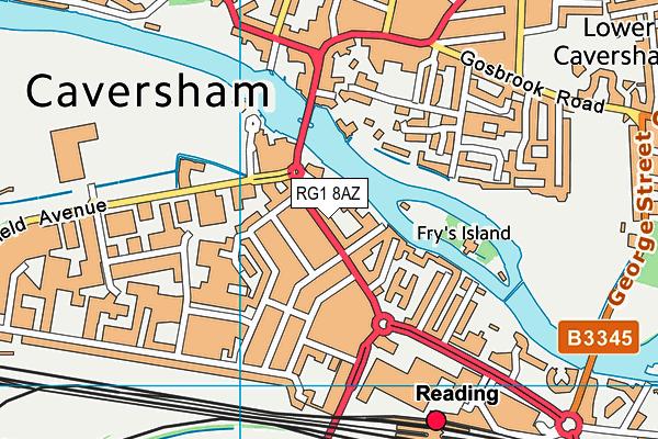 RG1 8AZ map - OS VectorMap District (Ordnance Survey)