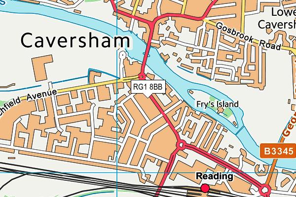 RG1 8BB map - OS VectorMap District (Ordnance Survey)