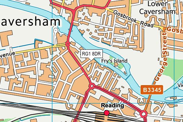 RG1 8DR map - OS VectorMap District (Ordnance Survey)