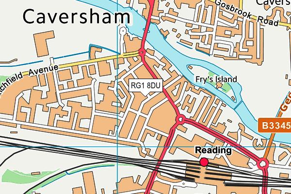 RG1 8DU map - OS VectorMap District (Ordnance Survey)