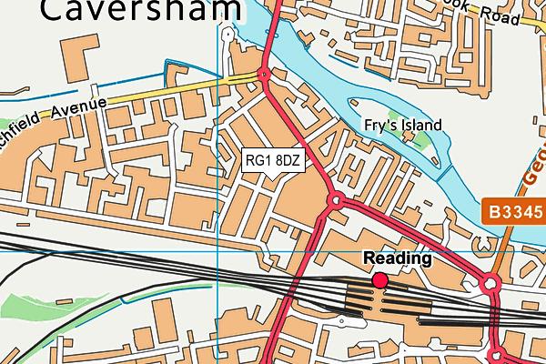 E P Collier Primary School map (RG1 8DZ) - OS VectorMap District (Ordnance Survey)