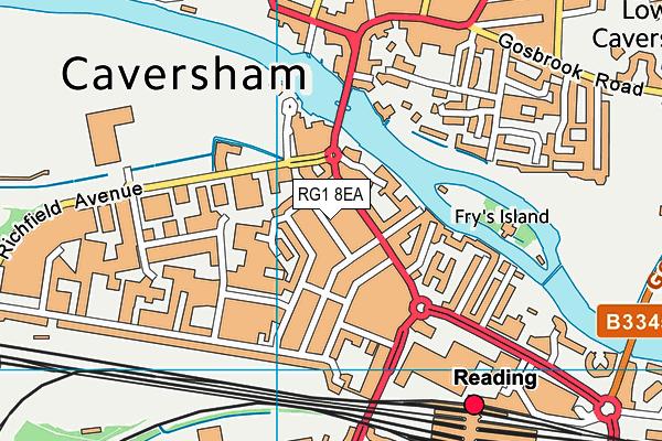 RG1 8EA map - OS VectorMap District (Ordnance Survey)