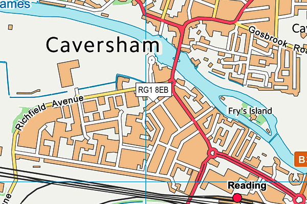 RG1 8EB map - OS VectorMap District (Ordnance Survey)