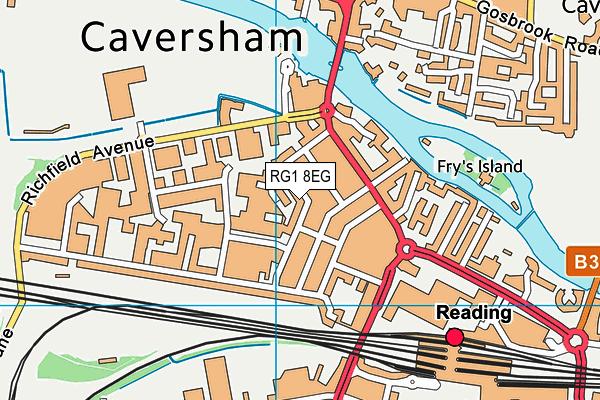 RG1 8EG map - OS VectorMap District (Ordnance Survey)