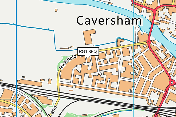 Rivermead Leisure Complex and Gym map (RG1 8EQ) - OS VectorMap District (Ordnance Survey)