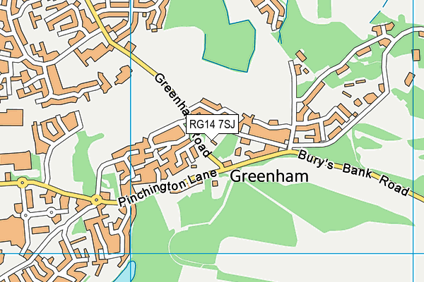 RG14 7SJ map - OS VectorMap District (Ordnance Survey)