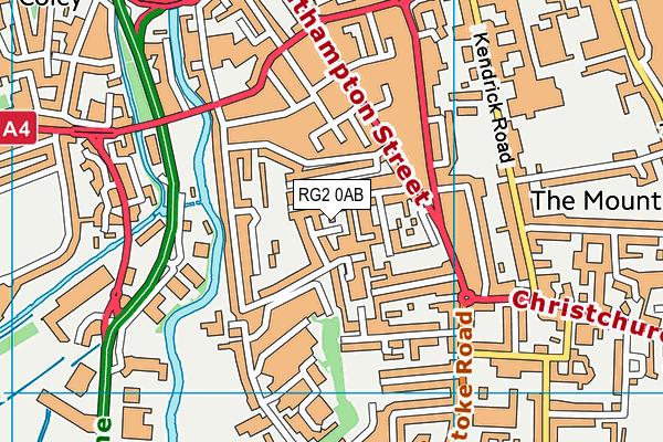 RG2 0AB map - OS VectorMap District (Ordnance Survey)