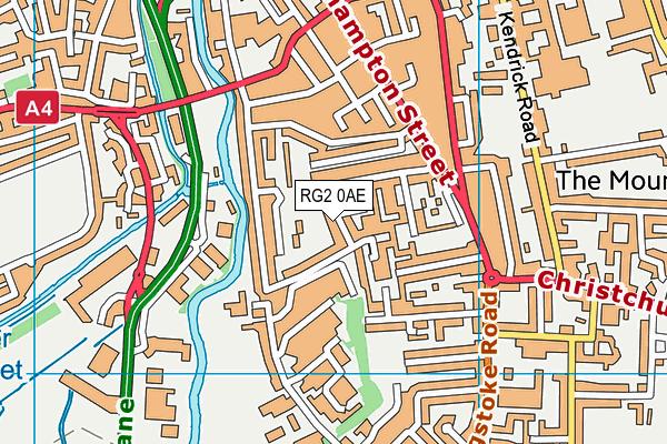 RG2 0AE map - OS VectorMap District (Ordnance Survey)