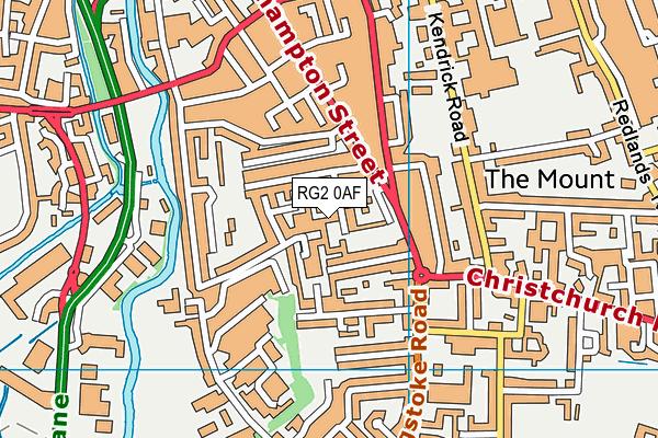 RG2 0AF map - OS VectorMap District (Ordnance Survey)