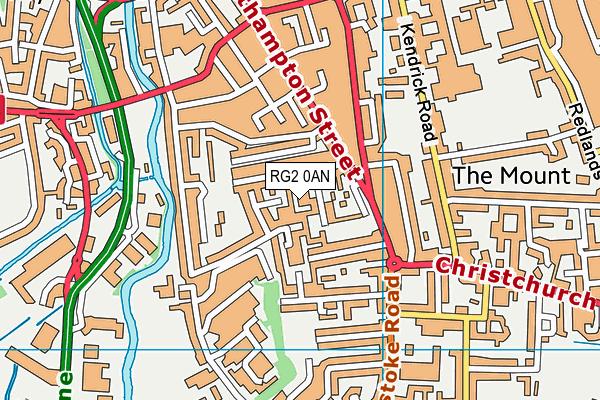 RG2 0AN map - OS VectorMap District (Ordnance Survey)