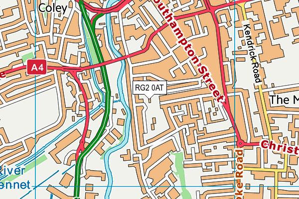 RG2 0AT map - OS VectorMap District (Ordnance Survey)