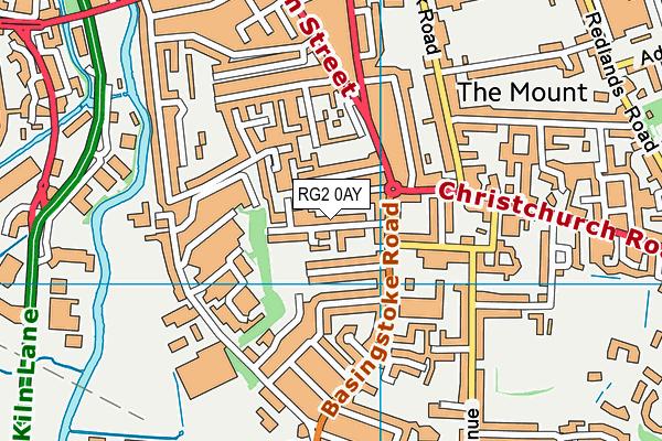 New Christ Church Church of England Primary School map (RG2 0AY) - OS VectorMap District (Ordnance Survey)
