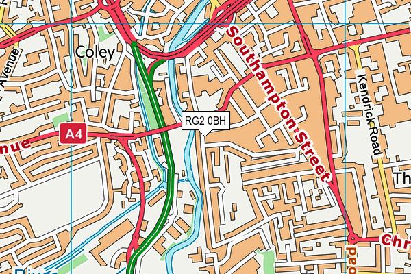 RG2 0BH map - OS VectorMap District (Ordnance Survey)