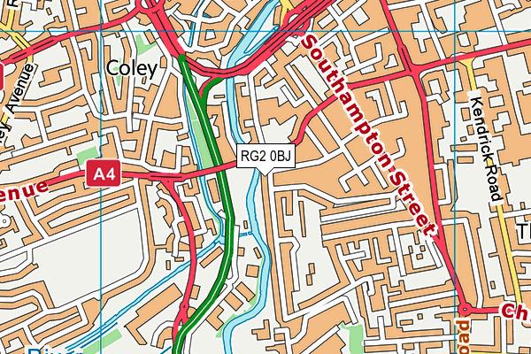 RG2 0BJ map - OS VectorMap District (Ordnance Survey)