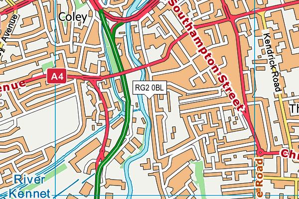 RG2 0BL map - OS VectorMap District (Ordnance Survey)