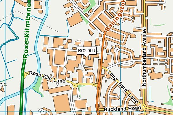 Oneschool Global Uk Reading Senior Campus map (RG2 0LU) - OS VectorMap District (Ordnance Survey)