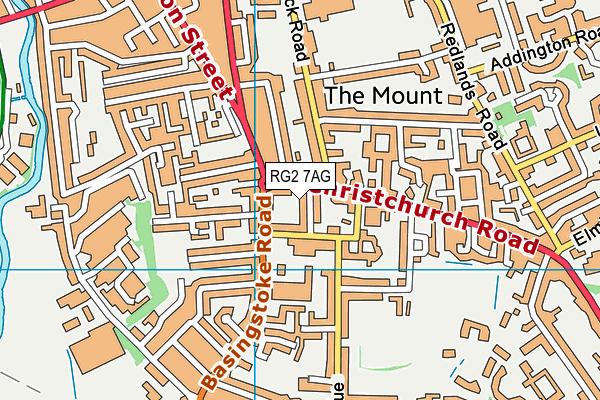 Trinity Christian School map (RG2 7AG) - OS VectorMap District (Ordnance Survey)